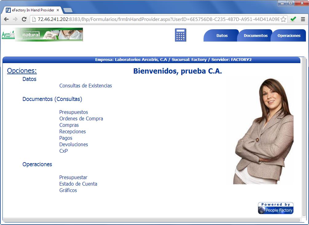 In Hand Provider - Productos Web de eFactory para Móviles y Tabletas