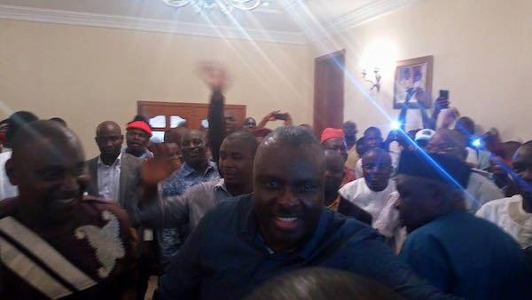 On Arrival, Ibori Dumps PDP For APC ...See Mammoth Crowd Welcome The Ex-convict Son As He Returns To Country-home
