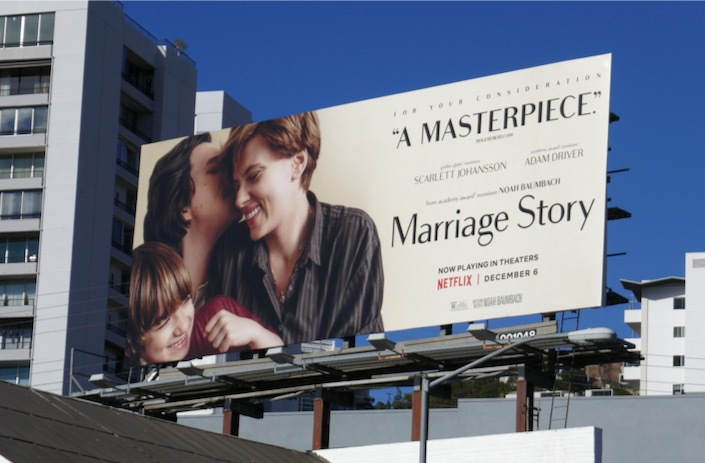 Marriage Story Masterpiece FYC billboard