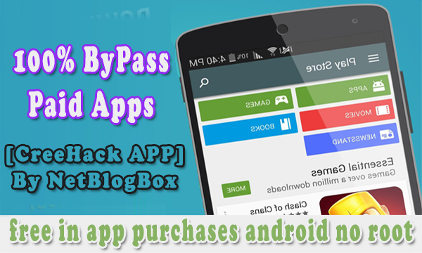 Free in app purchases android No Root Required [creehack]