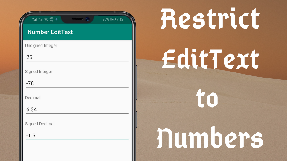 Set EditText to input Numbers only