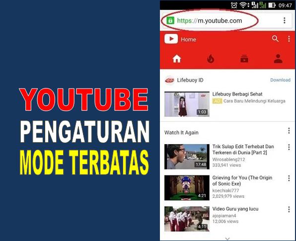 youtube anak, youtube mode terbatas