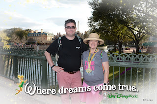 at Epcot World Showcase with my medal and TCB