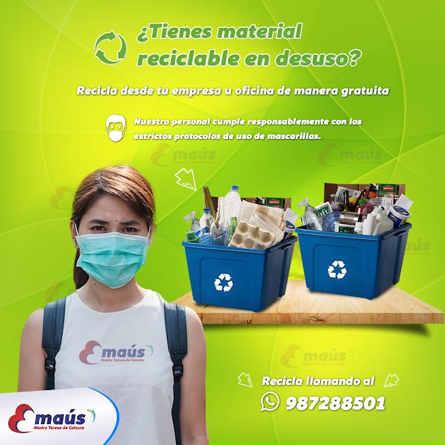 ¿Tienes material reciclable en desuso?