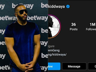 Kiddwaya Hits1 Million Followers On Instagram