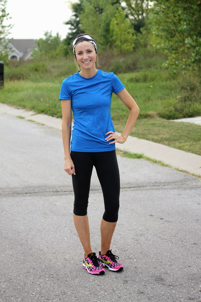 Easy and simple work out look from ONE little MOMMA