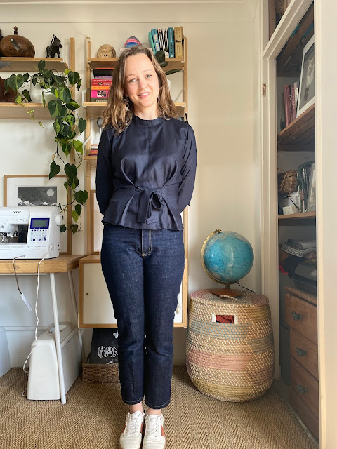 Diary of a Chain Stitcher: Named Breaking the Pattern Solina Top in Atelier Brunette Viscose Crepe