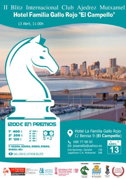 II Blitz Internacional Club Ajedrez Mutxamel  «13 Abril 2020»