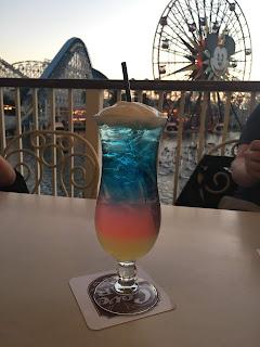 Mickey's Fun Wheel Cocktail in front of California Screamin