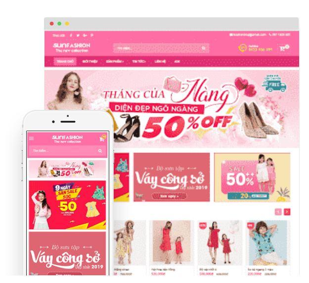 Giao diện blogger bán hàng đẹp nhất