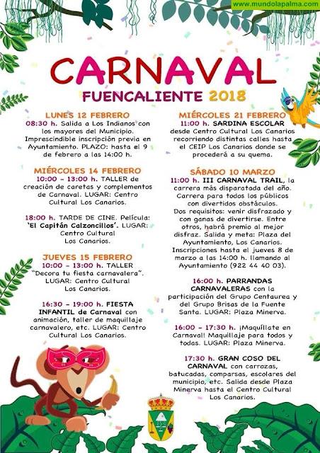 2018 Programa de Carnaval Fuencaliente