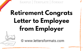 retirement letter to employee from company