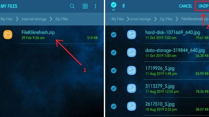 Cara Ekstrak File Zip Di Android Tanpa Aplikasi Klik Refresh