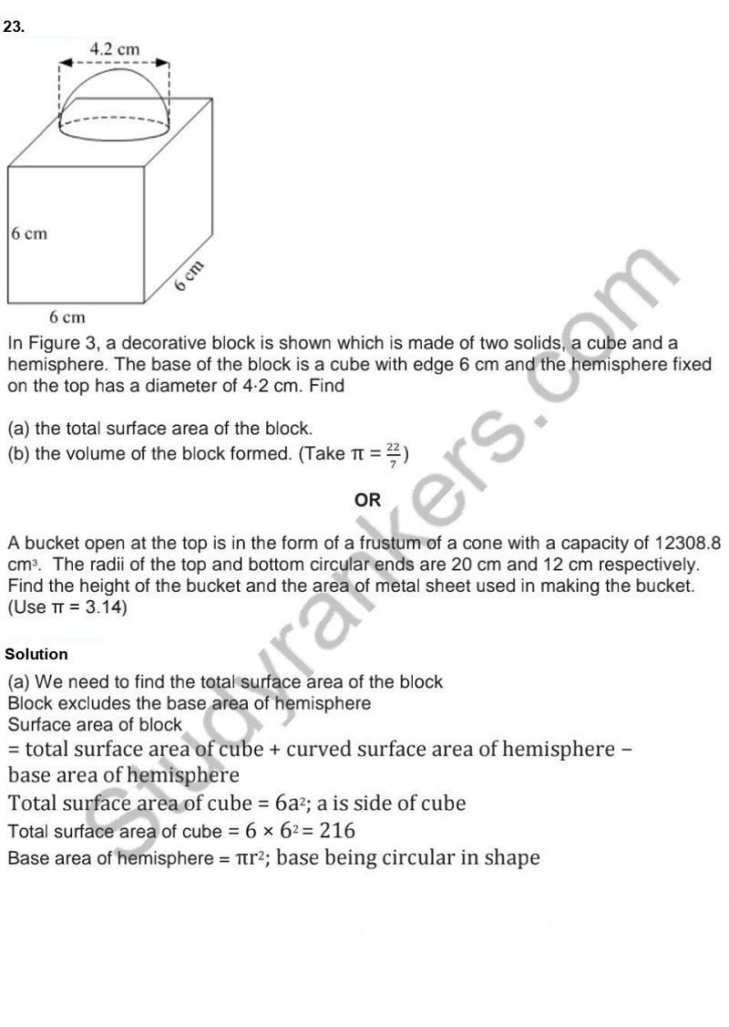 Previous Year Question Paper for CBSE Class 10 Maths 2019 Part 20