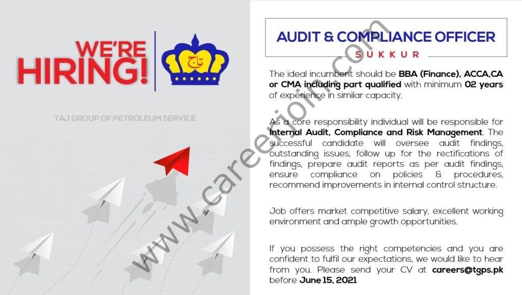 careers@tgps.pk - Taj Group of Petroleum Service Jobs 2021 in Pakistan