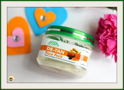 SSCPL Herbals De-tan face pack review on Natural Beauty And Makeup Blog