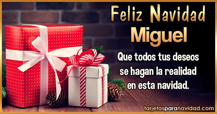 Feliz Navidad Miguel