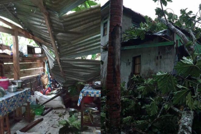 Angin Kencang dan Hujan Deras Terbangkan Atap Warga di Lamuru Bone