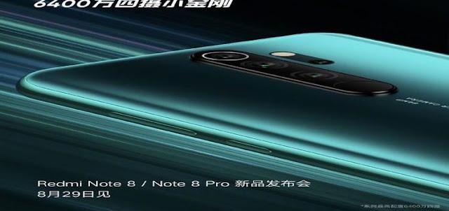 4 Kamera, Redmi Note 8 dan Redmi Note 8 Pro Siap Hadir