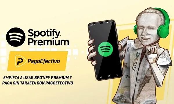 Cómo pagar con efectivo en Spotify y sus planes premium