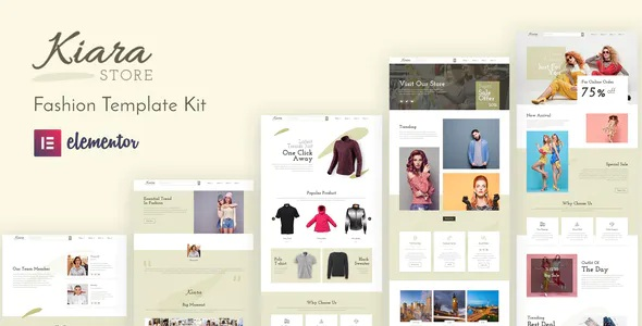 Best Fashion Elementor Template Kit