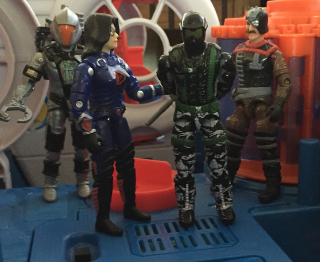 1997 Baroness, Toys R Us Exclusive, 2008 Convention Headhunter BAT, Battle Android Trooper, 2006 Major Bludd, 2005 Winter Operations Snake Eyes