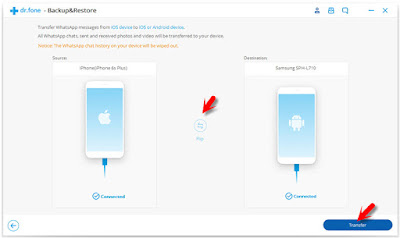 cara transfer data wa dari iphone ke android