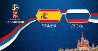 İspanya - Rusya Canli Maç İzle 01 Temmuz 2018