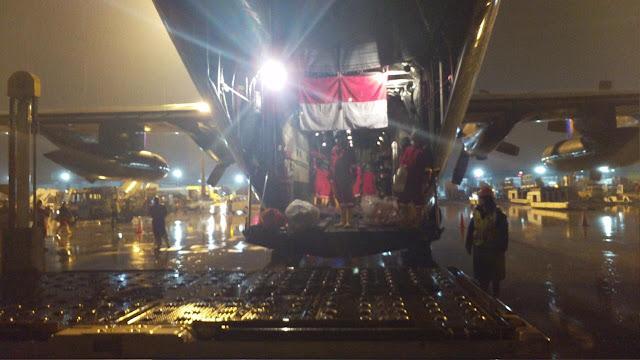 Pesawat TNI  C-130 Hercules Angkut Alkes Covid-19 Tiba di Indonesia