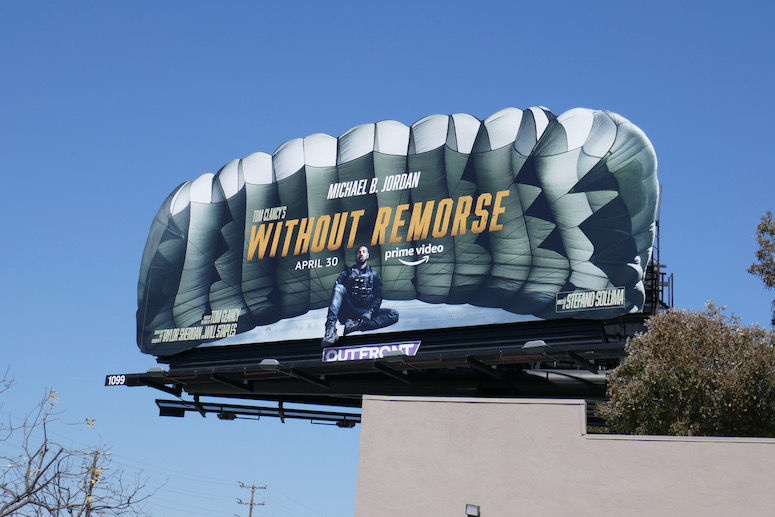 Without Remorse parachute cut-out billboard