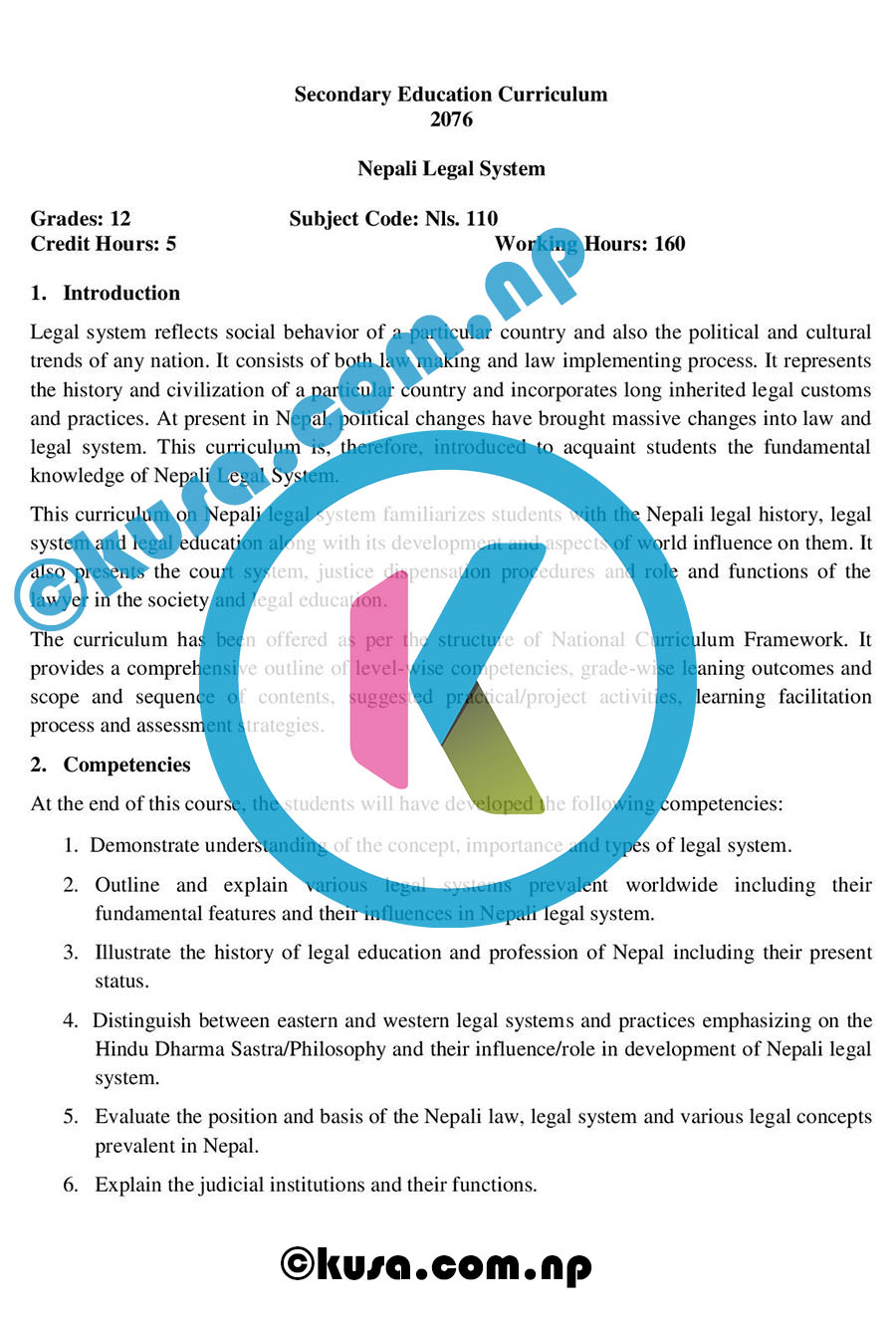 Grade-12-XII-Nepali-Legal-System-Curriculum-Subject-Code-Nls110-2076-DOWNLOAD-in-PDF