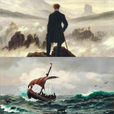 The Wanderer is a lament of a lonely man who had once been happy in the the service of his Lord. & The Seafarer is the monologue of an old sailor who recalls the loneliness and the hardship of life at sea, while at the same time ever of of its fascination.