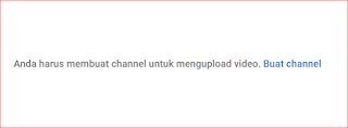 Buat channel youtube