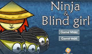 Ninja và cô gái mù game ẩn thân hồi hộp