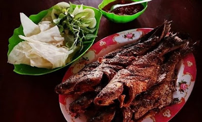 10 TOP KULINER NGAWI;  Ikan Bakar Warung Apung Waduk Pondok