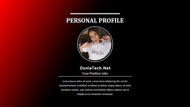 Download Template CV Elegant Powerpoint PPT Gratis dan Menarik