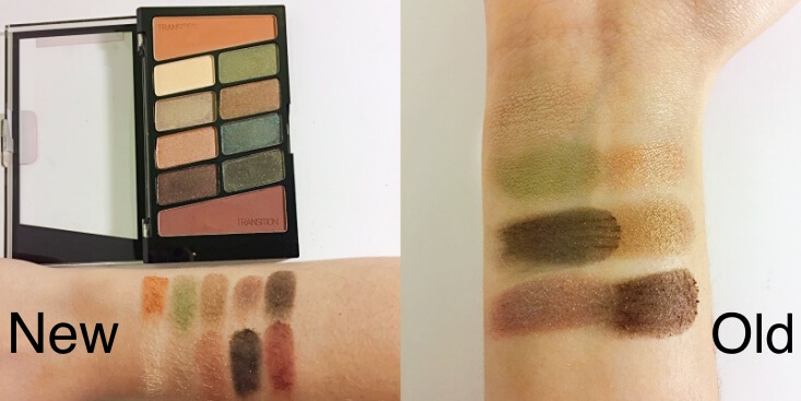 wet n wild coloricon 10 Pan Eyeshadow Palette old vs new Comfort Zone swatches