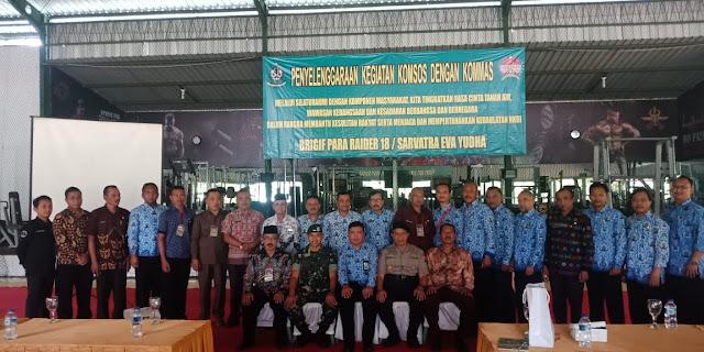 Jalin Silahturahmi, Brigif PR 18 Kostrad Gelar Komsos di Jabung