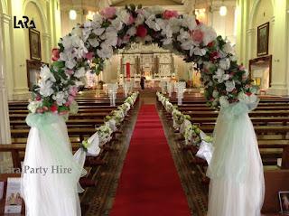 Lara party hire wedding flower arch wedding flower arch junglespirit Images