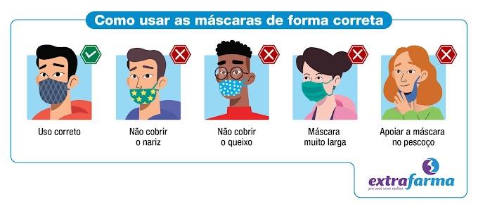 Os sete erros do uso das máscaras de proteção