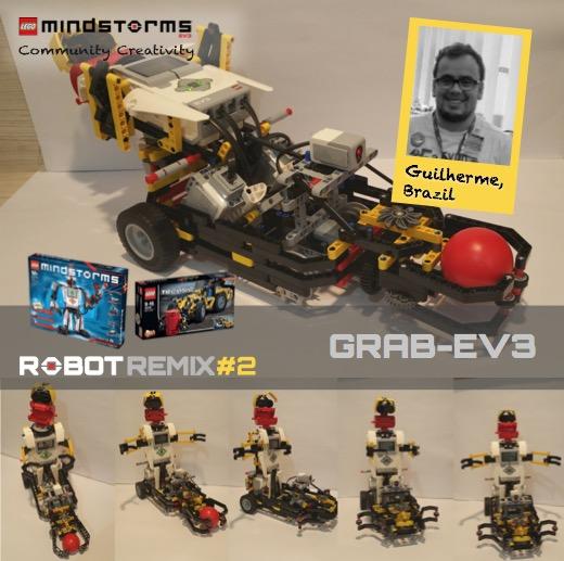 ROBOTREMIX2 - BUILDING INSTRUCTIONS 4 of 4 - GRAB-EV3 | The NXT STEP ...