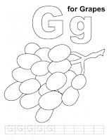 Kids Coloring Pages Letter Gg Printable Coloring Pages
