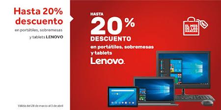 Top 5 ofertas Hasta 20% descuento en portátiles, sobremesas y tablets Lenovo de Worten