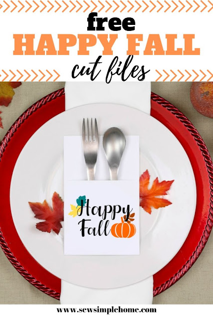 Download the free happy fall svg or png cut files to use all season long on crafting projects.