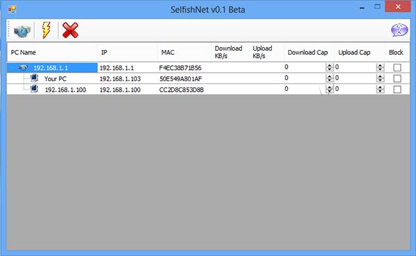 تنزيل برنامج Selfishnet لتحديد وقطع الانترنت عن المستخدمين