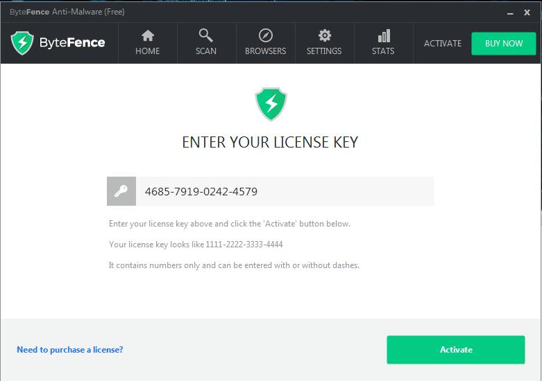 ByteFence 5.1.4.13 Pro + License Key - Rantauprapat Cyber Team
