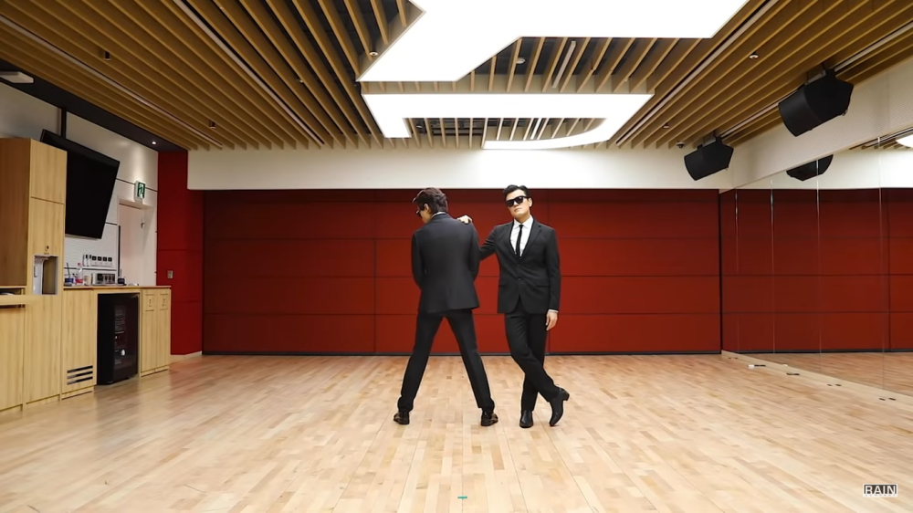 Rain and Park Jin Young Become 'Man In Black' Agents in 'Switch to Me' Choreography Video
