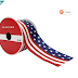 """SAVE 04$: 2.5"""" Satin Wired Flag Ribbon by Celebrate It™"""