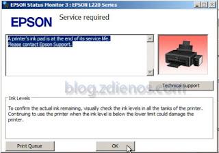 Cara Reset Epson L220 L360