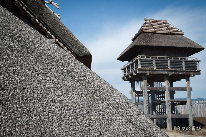 Kitanaikaku, reconstitution d'une tour de guet, parc Yoshinogari, Saga